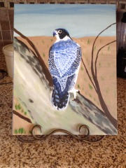 Blue Falcon Painting