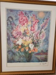 Floral Painting by Marc Chagall
