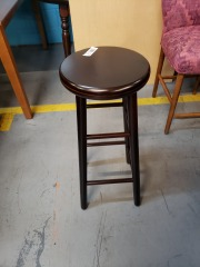 dark brown swivel barstool