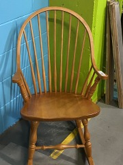 Farmhouse Wood Rocking Chair