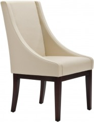 NEW Cr\u00e8me Leather Sloping Armchair
