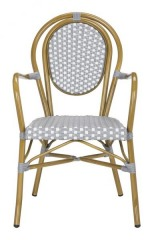 NEW Rosen French Bistro stacking Arm Chair (Set of 2)
