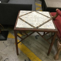 Tile top Table with Metal frame - GENTLY USED FURNITURE