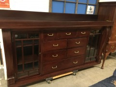 Ex. Large Wood Cabinet w\/Drawers