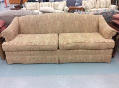 Red Sofa with 90's Pattern