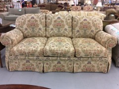 Stuffed Sofa with Floral Accents