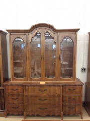 Basset Wood Two Piece Hutch