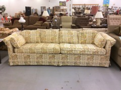Sofa with Yellow Floral Accents