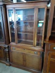 Brown wood china cabinet