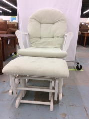 Mint Green Sliding Rocker with Sliding Ottoman