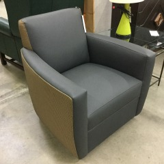 Rolling Gray Easy Chair - BETTER\/NEW FURNITURE