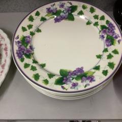 8 Dinner Plates Waverly - HOUSEWARES