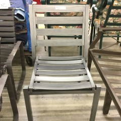 Gray Metal Outdoor Chair - NEW\/BETTER FURNITURE