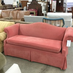 Dark Mango Camelback Sofa - GENTLY USED FURNITURE