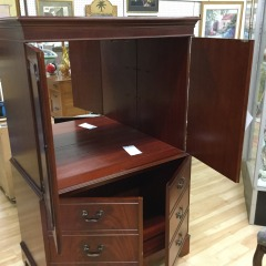 Petite Mahogany Armoir- COLLECTIBLES