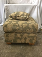 GENTLY USED Ottoman With Matching Pillow