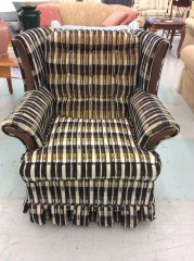 Wood Frame Wingback Chair