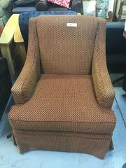 red\/orange chair