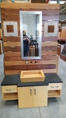 Wood Vanity and Sink