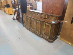 multi drawer side board wood