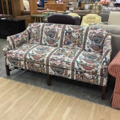 Oriental Balloon Ride Sofa AS IS - GENTLY USED FURNITURE