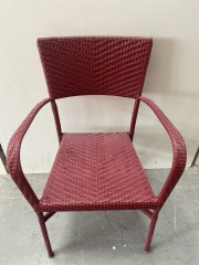 GENTLY USED Plastic Wicker Chair