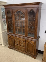 Martinsville Two Piece Hutch with Glass Shelves