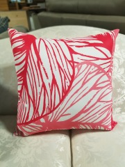 Pink & White Throw Pillow