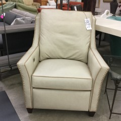 LeatherCraft Off-White Power Recliner - BETTER\/ NEW FURNITURE