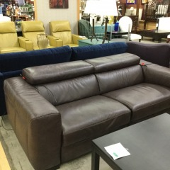 2 piece Leather Power Recliner Sofa -BETTER\/NEW FURNITURE