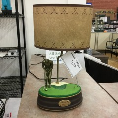Vintage King of America Golf Lamp..works -COLLECTIBLES