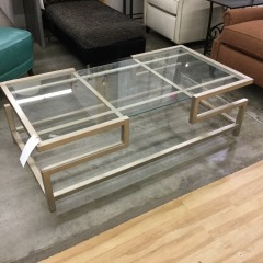 Metal and Glass Cocktail Table - BETTER\/NEW FURNITURE