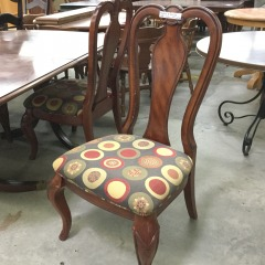 Set of 4 Dining Chairs with Circle pattern - GENTLY USED FURNITURE
