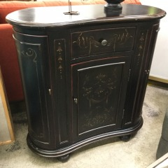 SmallBlack Cabinet with Gold Details - BETTER\/NEW FURNITURE