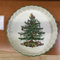 Spode China Christmas Tree Pie Dish - Collectibles