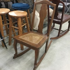 Small Cane Bottom Rocking Chair - GENTLY USED FURNITURE