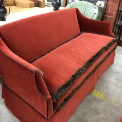 Cates Cove Rust Velvet Sofa - BETTER\/NEW FURNITURE