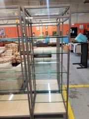 Metal\/Glass Display Shelves
