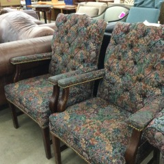 Floral Arm Chair - GENTLY USED FURNITURE