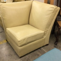 Yellow Leather Wedge - BETTER\/NEW FURNITURE