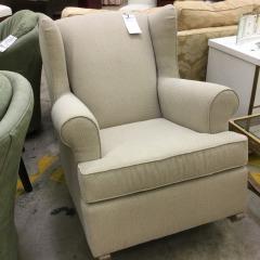 Oversized Tan Upholstered Rocker - BETTER\/NEW FURNITURE