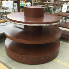 Large Tiered Round DIsplay  - GENTLY USED FURNITURE