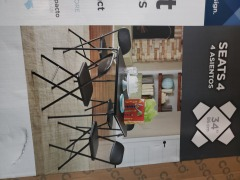 Fold up table and 4 chairs