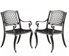 NEW Cast Aluminum Patio Chairs (Set of 2) (Damaged)