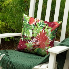 NEW Floral Square Throw Patio Pillow
