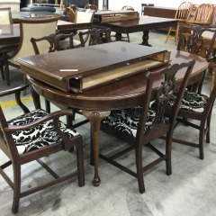 9 Piece Mahogany Dining Set - GENTLY USED FURNITURE