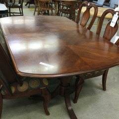 Oval Dining Table with 2 leaves AS IS - GENTLY USED FURNITURE
