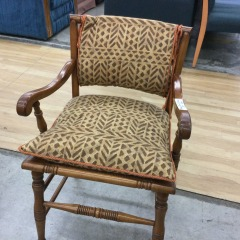 African Print Cushion Chair - GENTLY USED FURNITURE