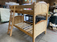 KNOTTY PINE TWIN BUNKBED