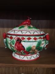 Ceramic Cardinal Tureen